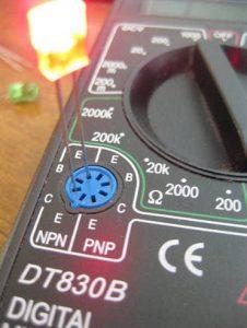 светодиод мультиметром